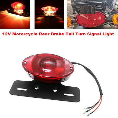 $18.74 • Buy Retro LED 12V Motorcycle Scooter Rear Brake Tail Turn Signal License Plate Light