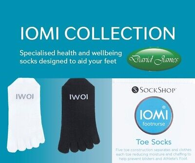 £7.99 • Buy IOMI FOOTNURSE TOE SOCKS To Help Prevent Blisters & Athletes Foot 2 Sizes Avail