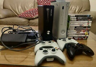 AU100 • Buy Xbox 360 (2 Consoles), Kinect , 4 Controllers With 13 Games!