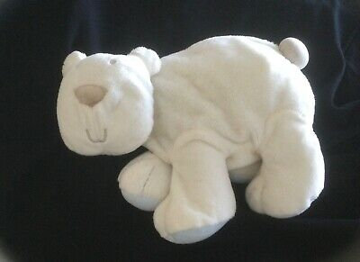 "Mamas & Papas Medium Perry Polar Bear Baby Soft Cuddly Toy White 10"" • 12.99£"