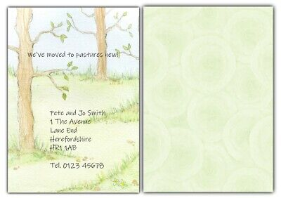 PERSONALISED Change Of Address Cards X 8 New Home Moving House CHOICE Of Designs • 3.99£