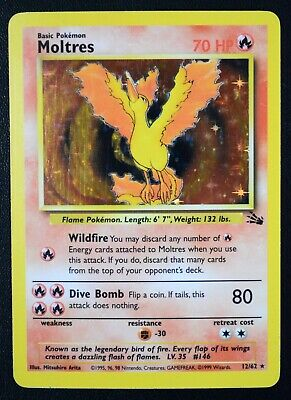 AU7.10 • Buy Pokemon Trading Card Rare Holo Holographic Moltres Fossil Set 1999 12/62
