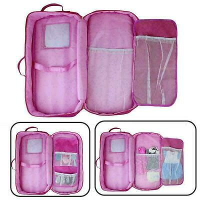18-inch Doll Case Carrier Suitcase Storage Travel For Girls Ship Doll Fast S3L9 • 10.99£