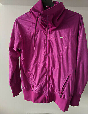 Size M 10/12 - Nike Womens Funnel Neck Rare Boutique Floral Track Top - RARE • 29£