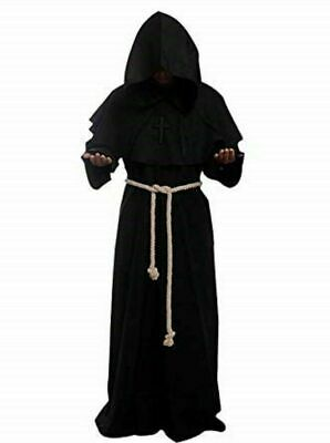 Medieval Reenactment Hood & Tunic Black Color Middle Ages Clothing Nice Look • 65.91£