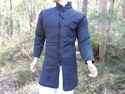 Medieval Viking Blue Color Gambeson For Men Armor Reenactment Theater Clothing • 60.74£