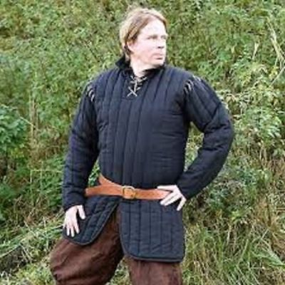 New Gambeson Medieval Blue Color Clothing Padded Full Sleeves Armor Reenactment • 58£