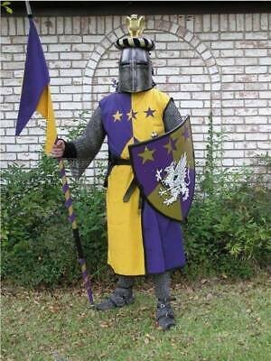 Renaissance Medieval Viking Blue/Yellow Color Tunic Armor Reenactment Clothing • 48.67£