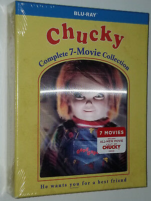 Chucky Complete Collection (1,2,3,4,5,6,7) Child's Play - Blu-ray Box Set SEALED • 69.99£
