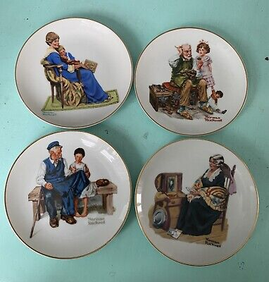 "$ CDN22.78 • Buy Lot Of 6 Norman Rockwell Museum 6-1/2"" Collector Plates, 1984"