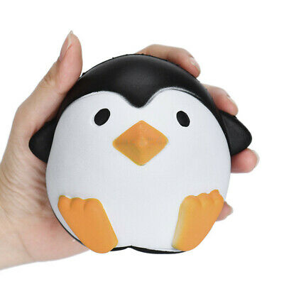 AU17.95 • Buy Super Kawai Jumbo Penguins Press Slow Rising Cream Scented Decompression Toys