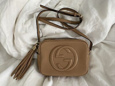 AU950 • Buy Gucci Soho Small Leather Disco Crossbody Bag - Rose Beige Excellent Condition.