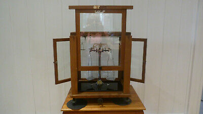 Vintage Cased Laboratory Weighing Scales By Nivoc And Set Of Weights • 40£