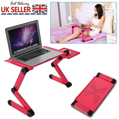 Portable Laptop USB Desk Table Bed Cooling Fans Stand Tray Adjustable Foldable • 17.79£