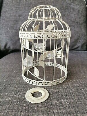 Pendant Bird Cage Lampshade Clear Birds Leaves Frame Metal Cage • 4.20£
