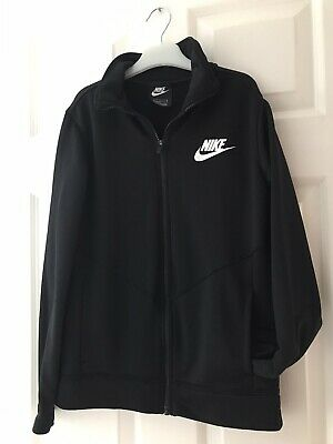 Girls Nike Black Zip Up Top / Track Jacket Age 10-11 (Size 147-158 Cm) L • 4£