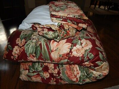 $ CDN189.90 • Buy 4 SET  Queen Red Floral Marseilles RALPH LAUREN Comforter 2 Shams & Bed Skirt!
