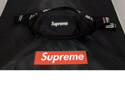 $ CDN50.75 • Buy Supreme Black Waist Bag Fanny Pack Cordura Backpack Money Pouch Travel