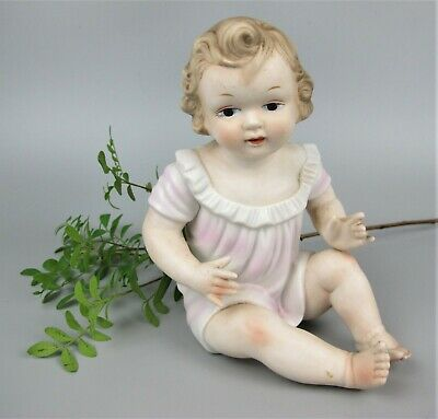 £24.99 • Buy Sweet 1950's Vintage Bisque Porcelain Doll - Baby Girl Figurine. Hand Painted 7