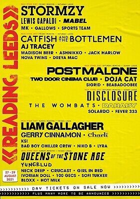 £14.99 • Buy READING & LEEDS FESTIVAL 2021 Line Up Posters PHOTO Print POSTER Prints Wall Art