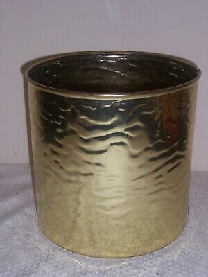 Vintage Brass Log Coal Bucket Scuttle Plant Holder 99p No Reserve • 1.20£