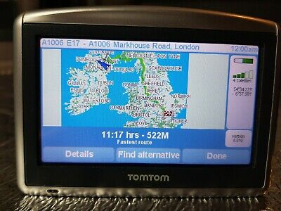 TOMTOM ONE XL Version, 8.010 Maps,Genuine Car Charger,Usb Lead, Holder • 7£