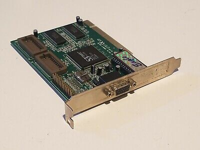 AU39.99 • Buy Vintage S3 Trio64V+ PCI VGA Video Card For 486 Pentium II III 4 Retro Computer