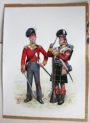 $99.95 • Buy Officer And Corporal Grenadier Company 92nd Highlanders Painting By ALIX BAKER!
