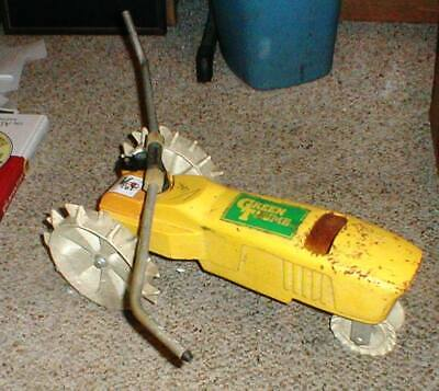 AU38.45 • Buy Green Thumb Yellow Cast Iron FARM TRACTOR Traveling Lawn Water Sprinkler #42327