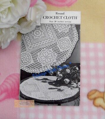 £1.99 • Buy Vintage 1930s Round Table Cloth Crochet Pattern 20 Inches In Diameter