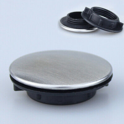 Kitchen Sink Tap Hole Blanking Plug Cover Plate Disk Brushed #R1 • 4.89£