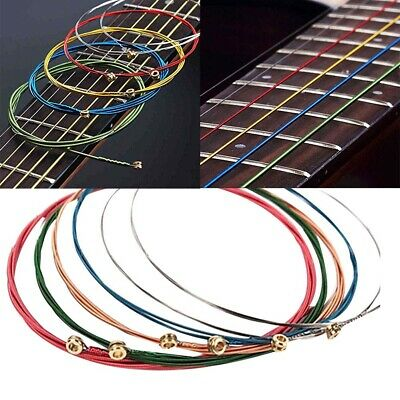 $ CDN5.82 • Buy 6Pcs Rainbow Colorful Acoustic Guitar Strings Set Music Instrument Accessory San