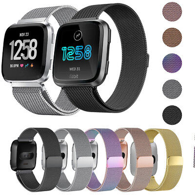 $ CDN6.21 • Buy Magnetic Strap Replacement Stainless Steel Metal Watch Band For Fitbit Versa 2 3
