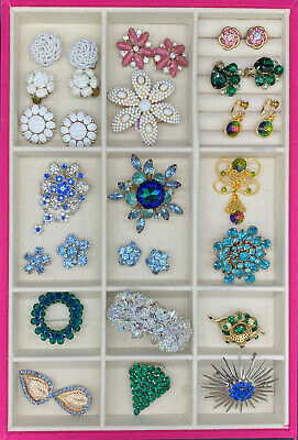 $ CDN251.20 • Buy Beautiful Vintage Jewelry Lot 22 Pieces  Rhinestone Brooches, Costume Bridal