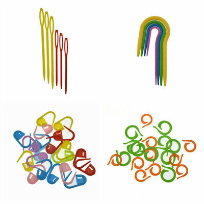£3.10 • Buy Cable Needles Crocheting Sewing Stitch Markers Set Knitting Plastic 53Pcs