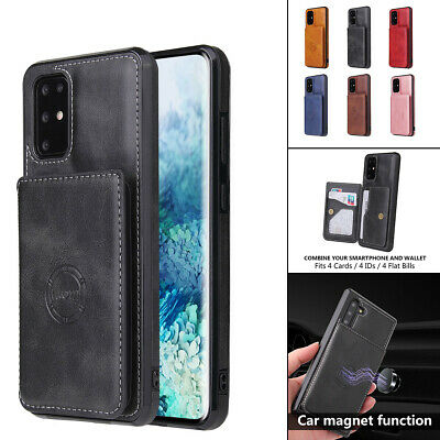AU12.52 • Buy For Samsung Galaxy S21 S20 S20FE S10 Note 20 Ultra Leather Magnetic Wallet Case