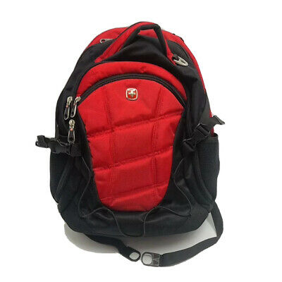 Swiss Army Gear Backpack/Laptop Travel Black Red Airflow • 28.62£