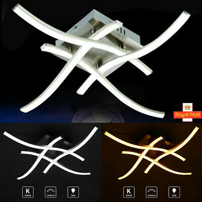 Kitchen/Living Room Bedroom LED Ceiling Lights Modern Pendant Fitting Chandelier • 22.99£