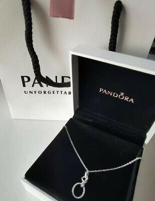 Pandora Genuine Knotted Heart Sterling Silver Pendant Necklace #398078CZ Gift UK • 17.99£