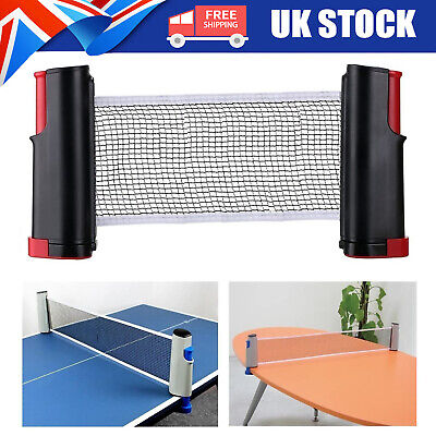 Hot Sale Table Tennis Kit Ping Pong Set Portable Retractable Net UK STOCK • 7.69£