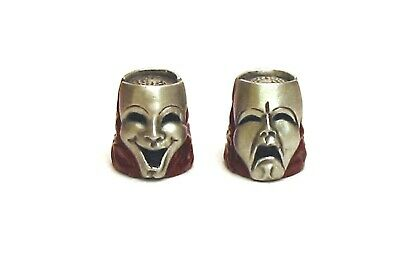 £10.99 • Buy Comedy Tragedy Masks Thimble Hand Painted Pewter Collectible Thimble Xmas Gift
