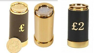 £2.50 • Buy  Gold New£1 / £2 Coin Tube Cash Dispenser Pocket Taxi Up To 15 Pound Euro Holder