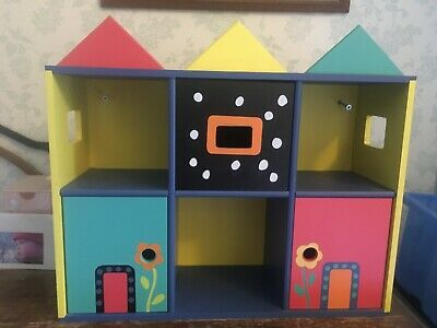 Ikea Childrens Furniture Cd Storage Wall Unit/ Cupboard  Multicoloured Design • 5.99£