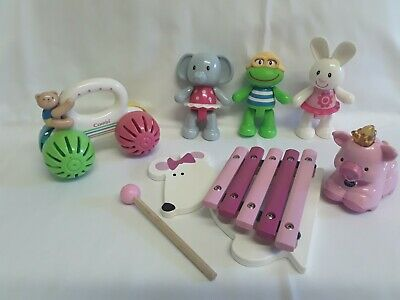 Toddler Toys Wooden Xylophone ELC Toy Figures Vtech Animal Combi Push Along  • 3£