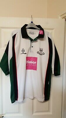 Crusader Worcestershire Ccc White Multi Strip Polo Shirt Size L Brand New. • 15.99£