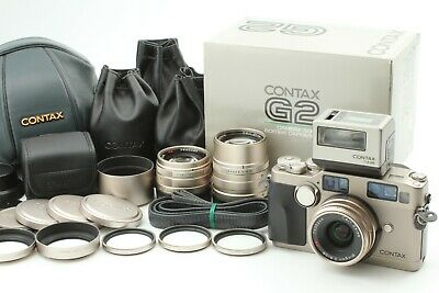 $ CDN3409.01 • Buy 【TOP MINT】 Contax G2 + 28mm 45mm 90mm Lens + TLA200 + Case Strap From Japan 1183
