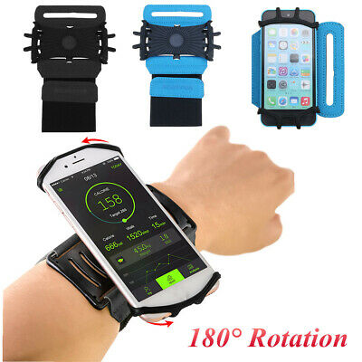 180°Rotate Sport Running Jogging Gym Armband Wrist Band Belt Cell Phon • 11.21£