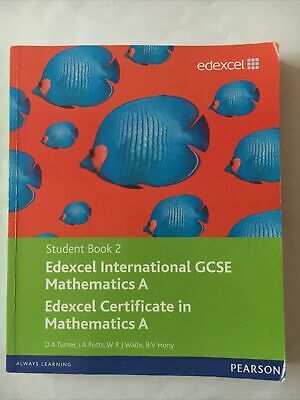 £10 • Buy Edexcel International GCSE Mathematics A Student Book 2 With ActiveBook CD By I.