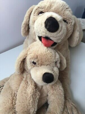 Extra-large (30inches) Super-soft Cuddly Plush Toy Labrador And Puppy - IKEA • 5£