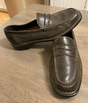 Mens Rockport Penny Loafers Brown Genuine Leather Size 9.5 • 7.16£